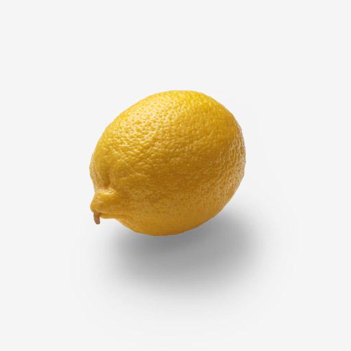 Lemon image asset with transparent background