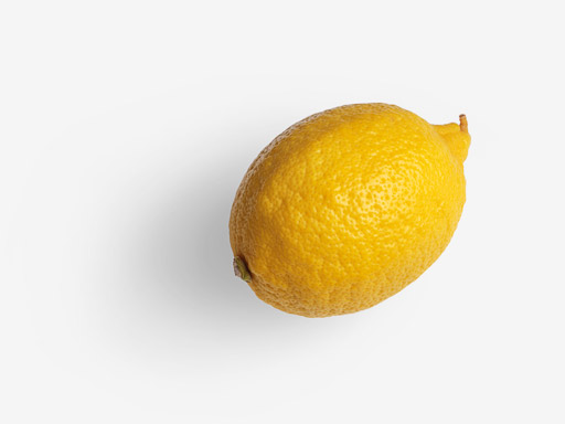 Lemon PSD isolated image