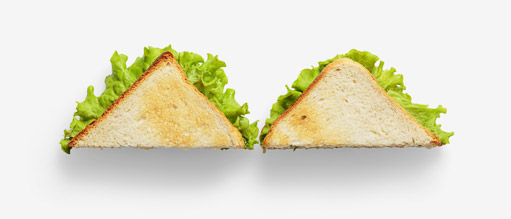 Bread image asset with transparent background