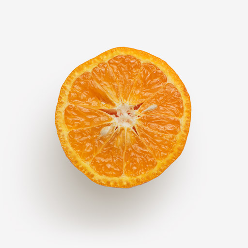 Orange PSD isolated image